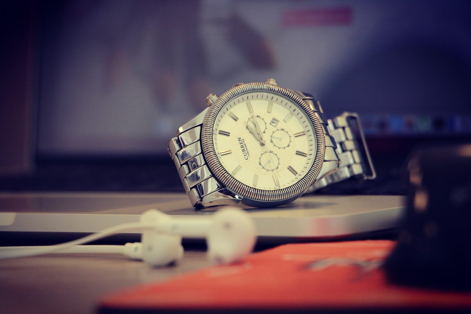Watches on table. Time Management